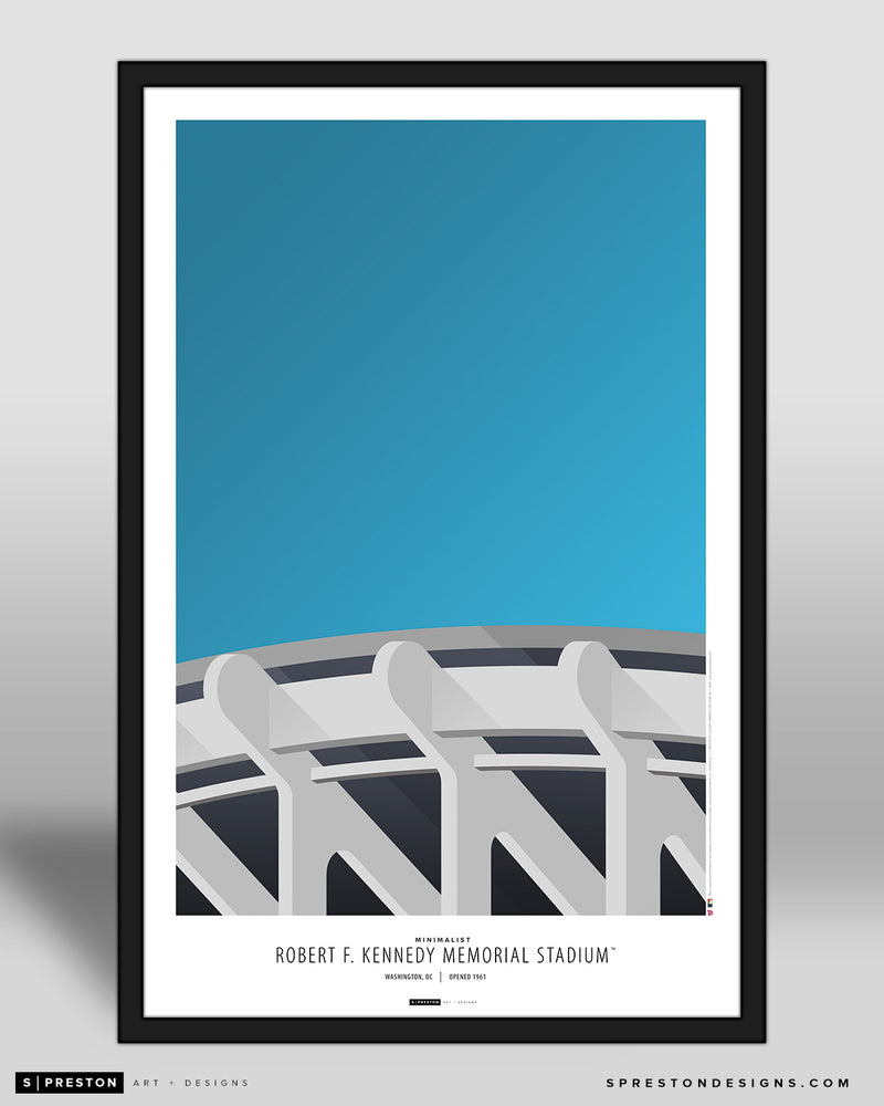 Minimalist RFK Stadium Poster Print Washington Nationals - S Preston