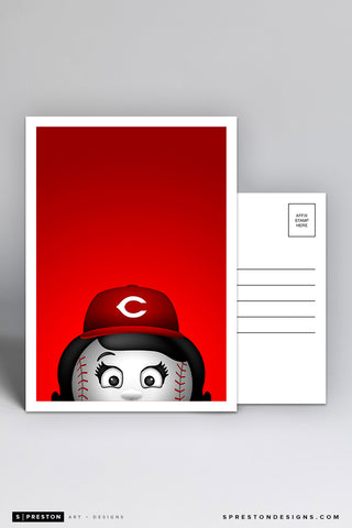 Minimalist Rosie The Red Postcard
