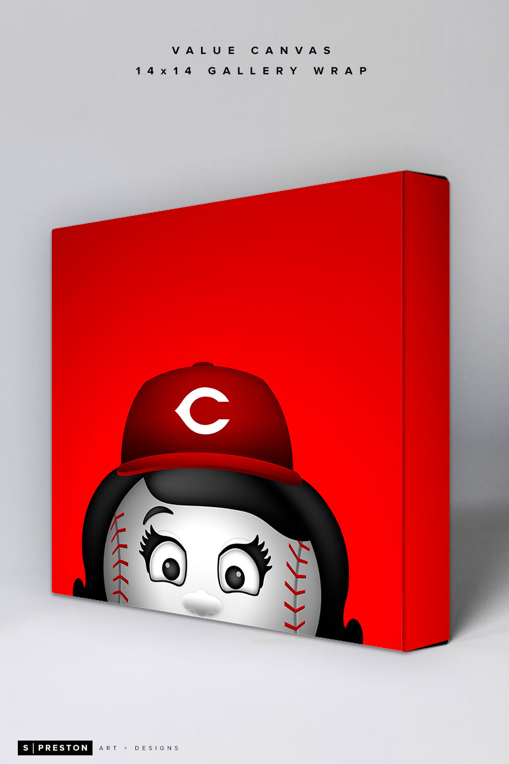 Minimalist Rosie The Red Value Canvas
