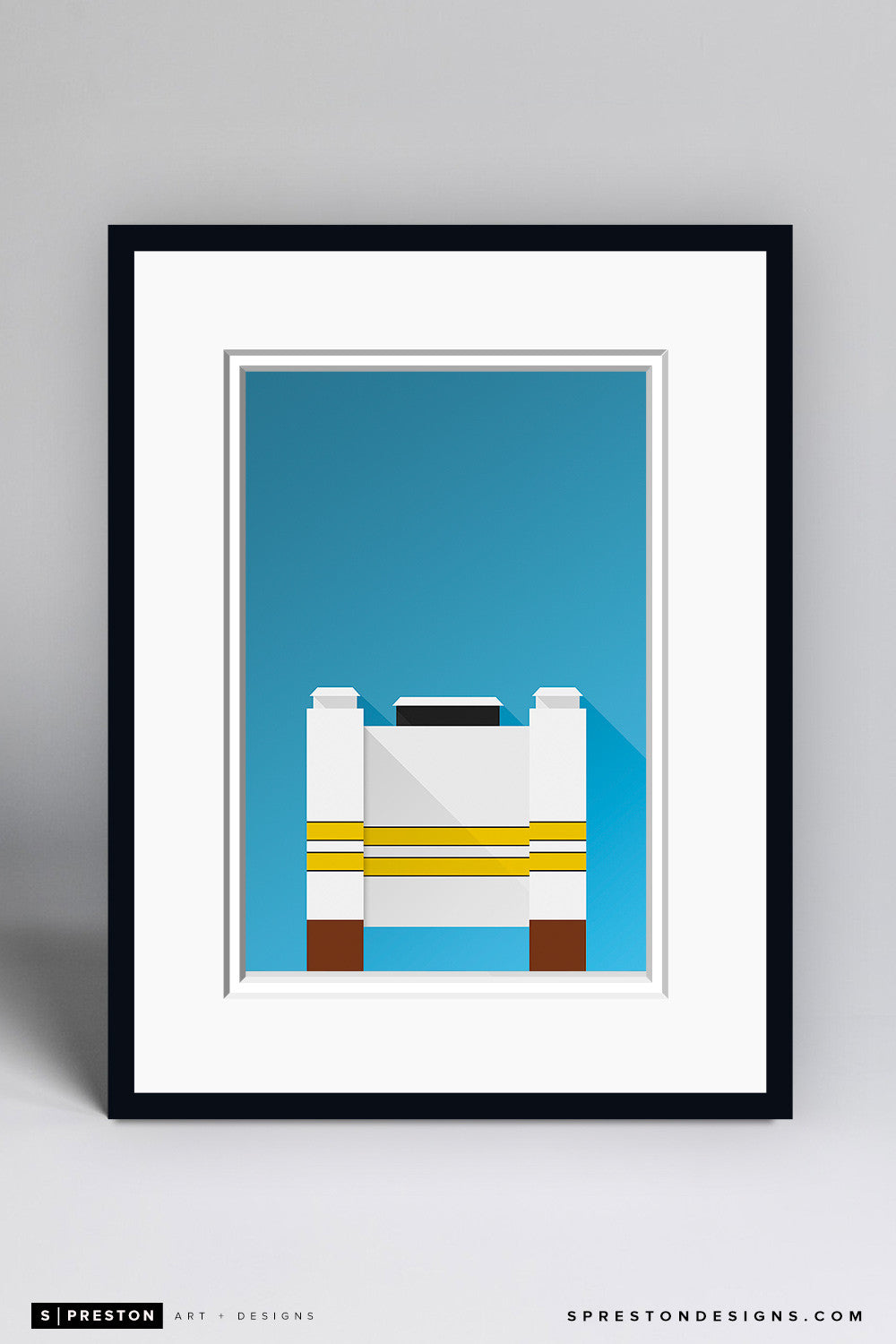 Minimalist Ross-Ade Stadium Art Print - Purdue University - S. Preston Art + Designs