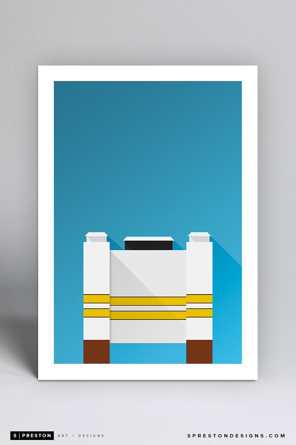 Minimalist Ross-Ade Stadium - Purdue University - S. Preston