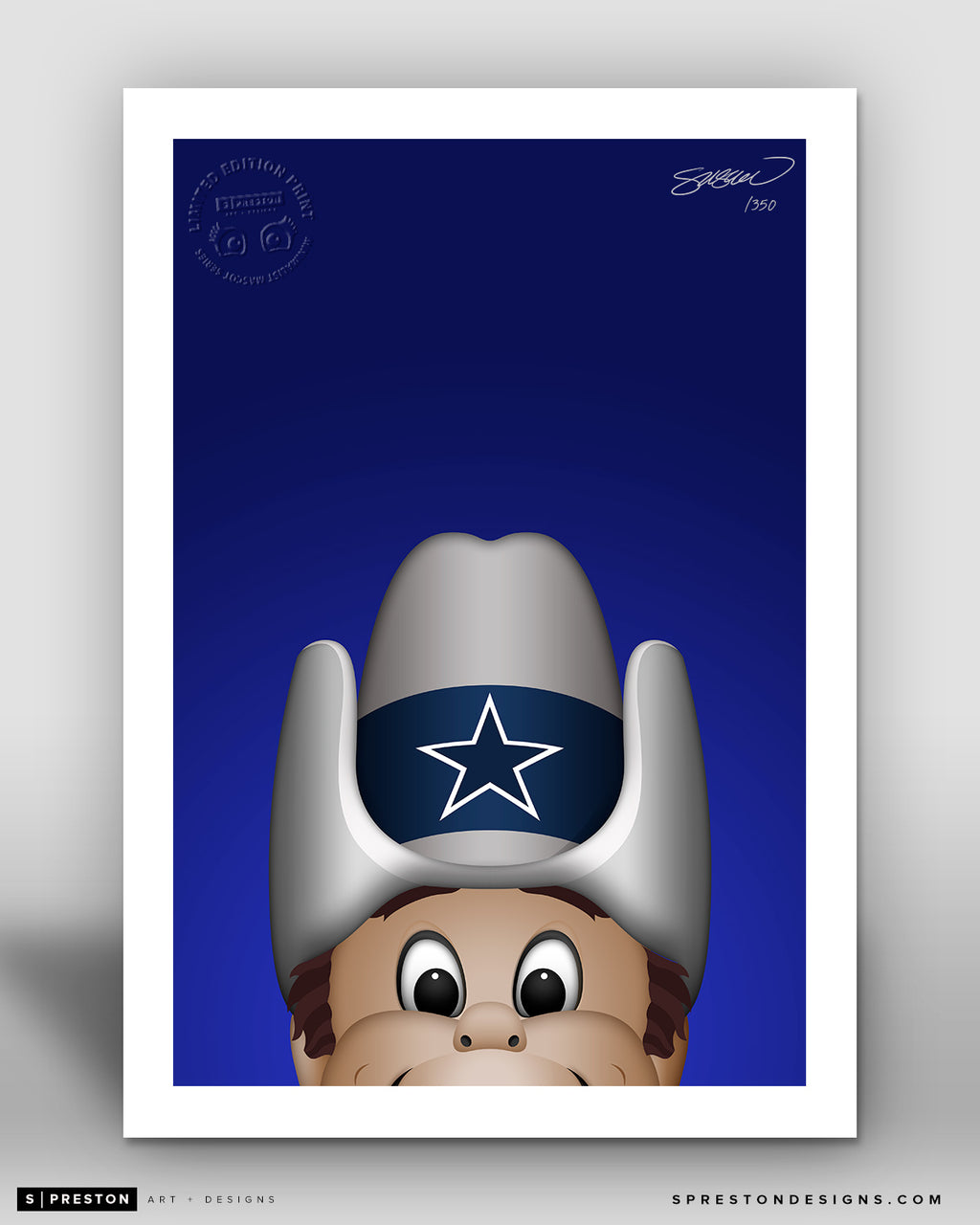 Minimalist Rowdy Dallas Cowboys Mascot - S. Preston