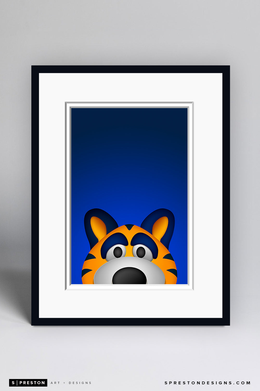 Minimalist Sabretooth - Buffalo Sabres Mascot - S. Preston Art + Designs