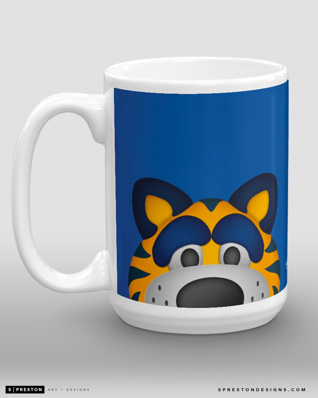 Minimalist Sabretooth Coffee Mug - NHL Licensed - Buffalo Sabres Mascot