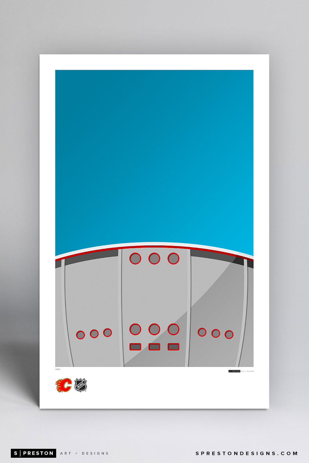 Minimalist Scotiabank Saddledome Art Poster