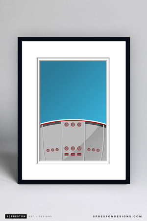 Minimalist Scotiabank Saddledome Framed - CLEARANCE