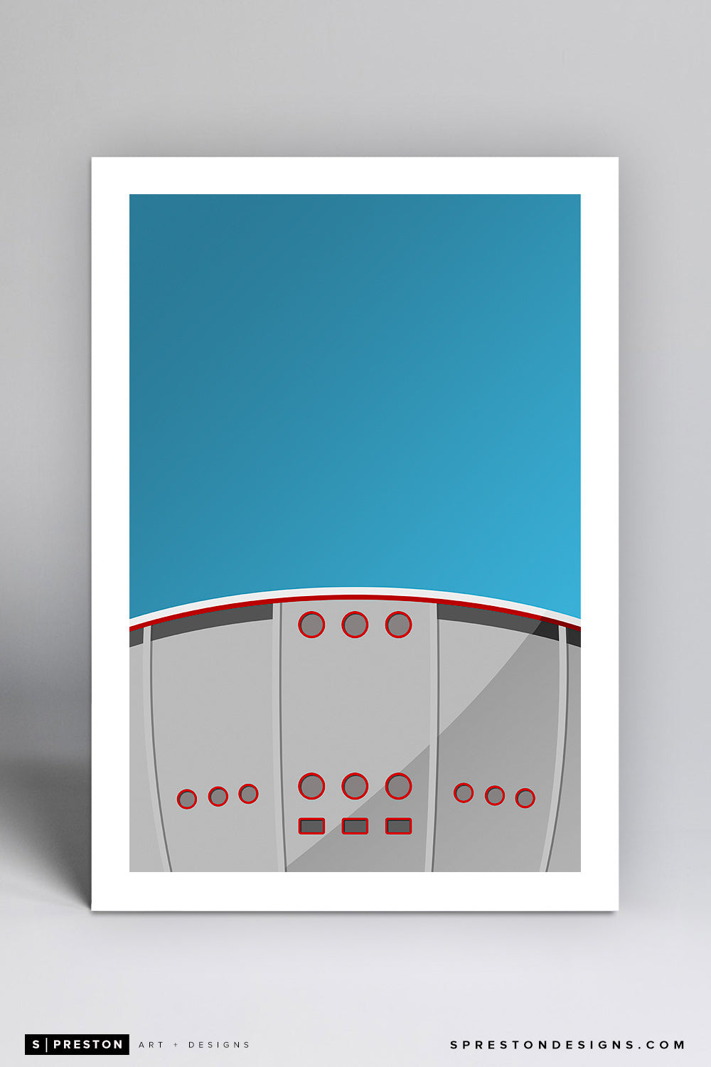 Minimalist Scotiabank Saddledome - Calgary Flames - S. Preston