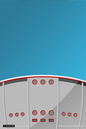 Minimalist Scotiabank Saddledome