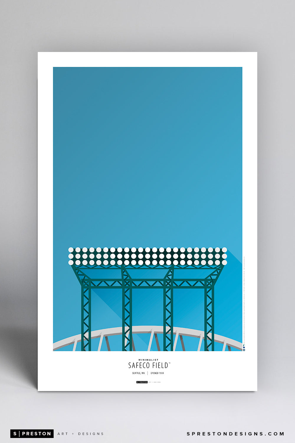 Minimalist Safeco Park Art Poster - CLEARANCE