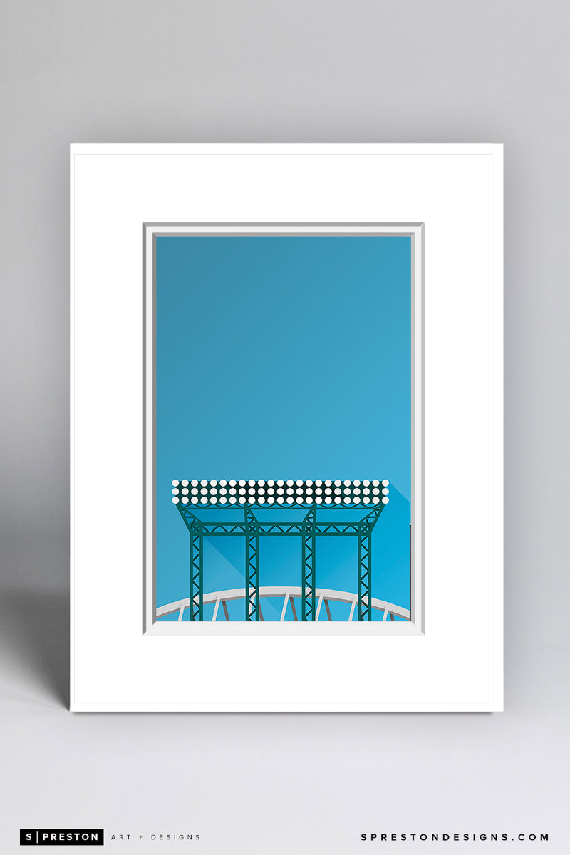 Minimalist Safeco Field Matted Art Poster  - CLEARANCE