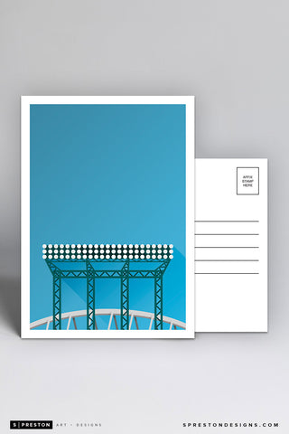 Minimalist Safeco Field Postcard (Floodlights)