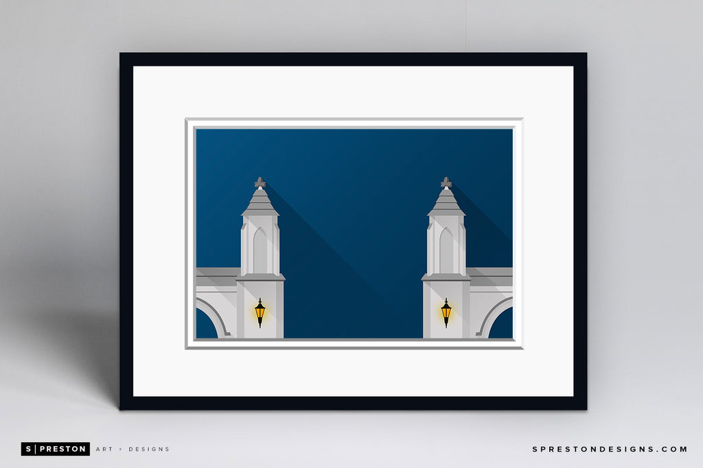 Minimalist Sample Gate - Indiana Art Print - Indiana University - S. Preston Art + Designs