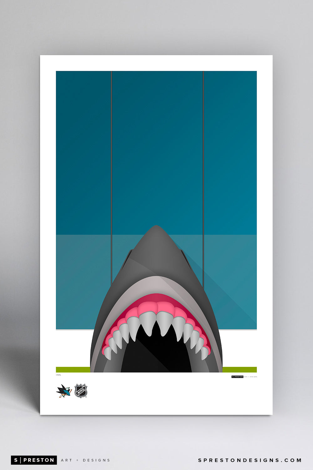 Minimalist SAP Center Poster Print San Jose Sharks - S Preston