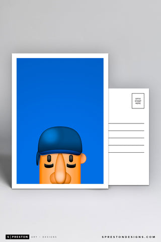 Minimalist Racing Sausage Hot Dog Postcard