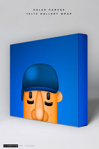 Minimalist Racing Sausage Hot Dog Value Canvas CLEARANCE