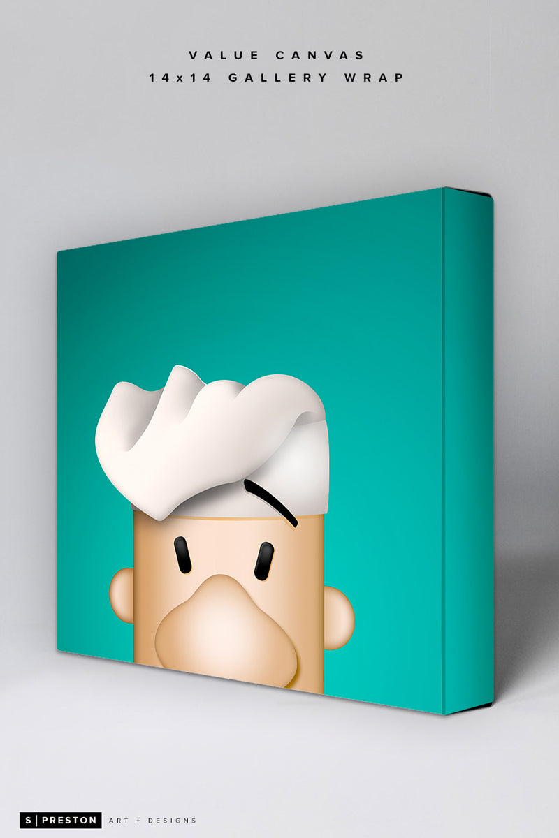 Minimalist Racing Sausage Italian Value Canvas