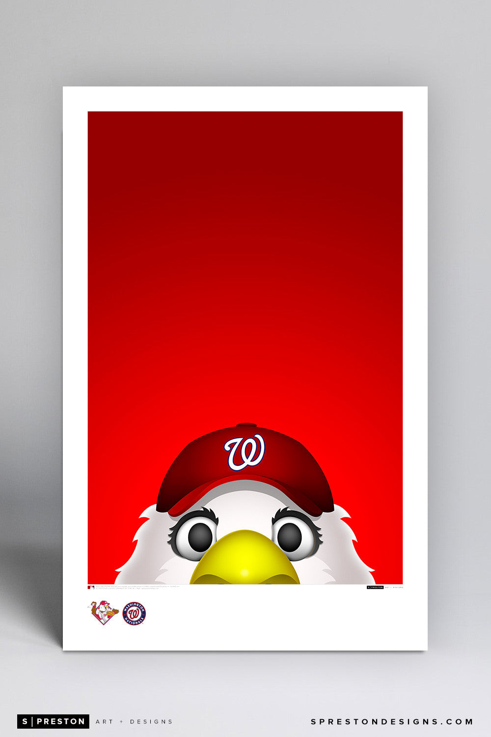 Minimalist Screech Art Poster Art Poster - Washington Nationals - S. Preston Art + Designs