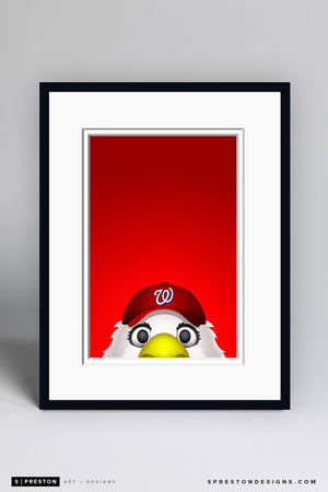 Minimalist Screech - Washington Nationals - S. Preston