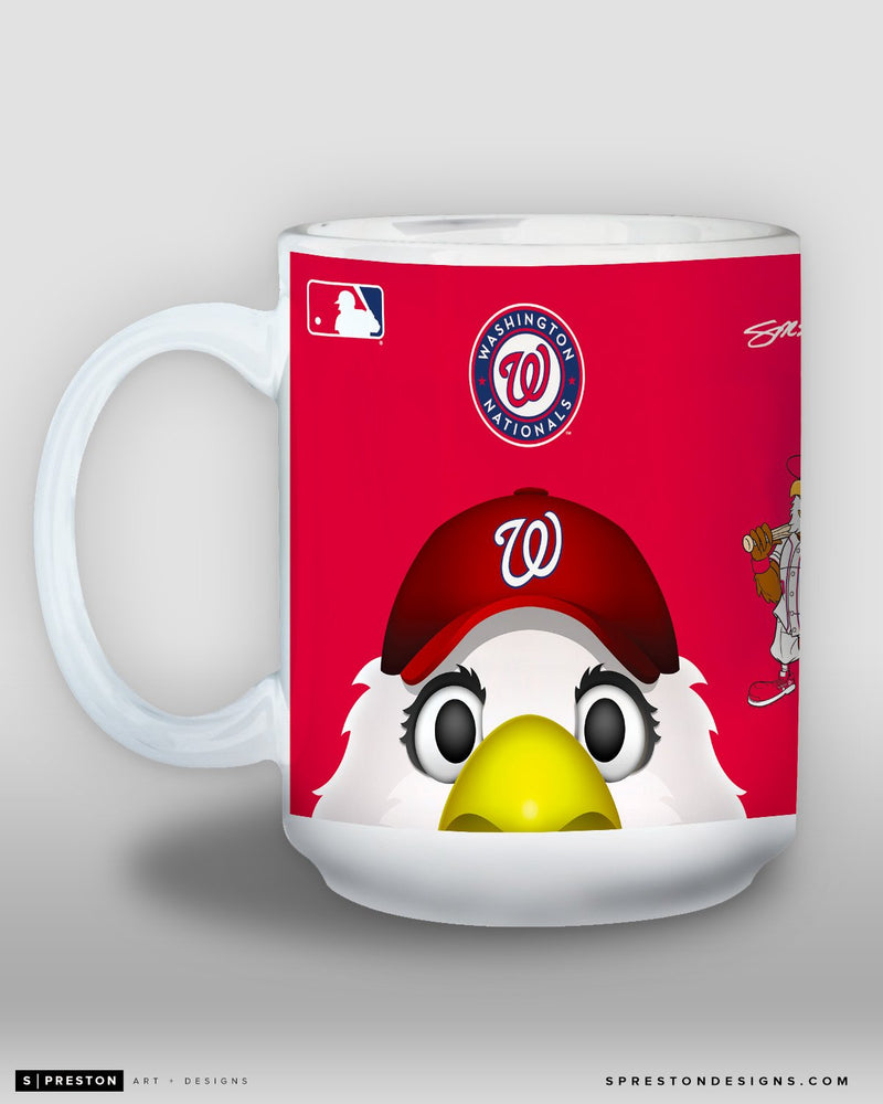 Minimalist Screech Coffee Mug - MLB Licensed - Washington Nationals Mascot