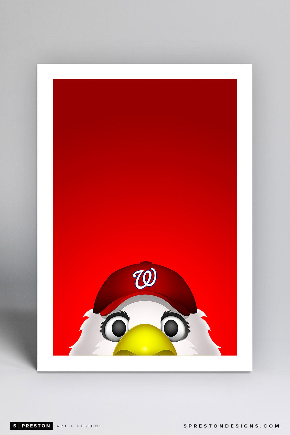 Minimalist Screech Art Print - Washington Nationals - S. Preston Art + Designs