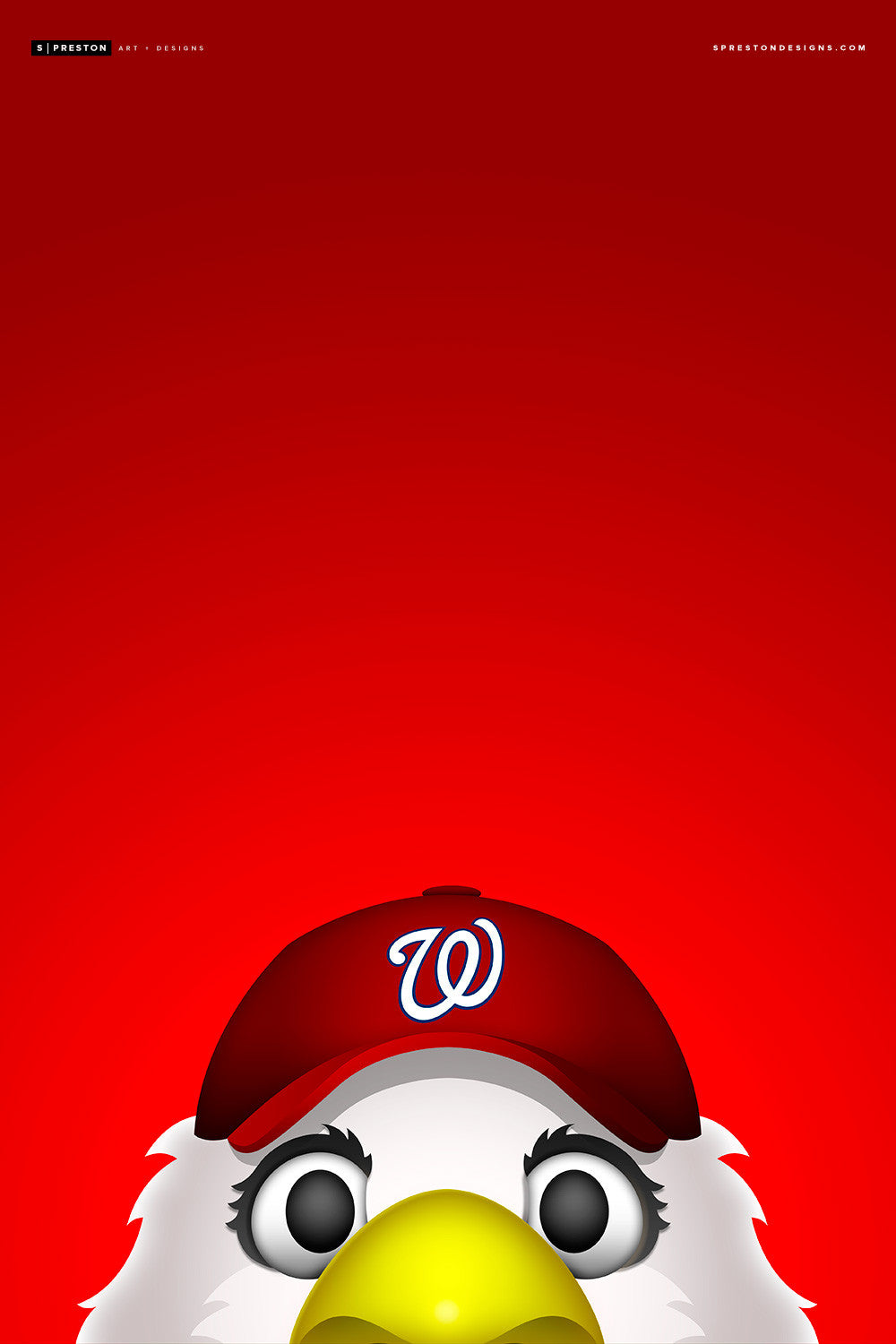 Minimalist Screech Canvas Canvas - Washington Nationals - S. Preston Art + Designs