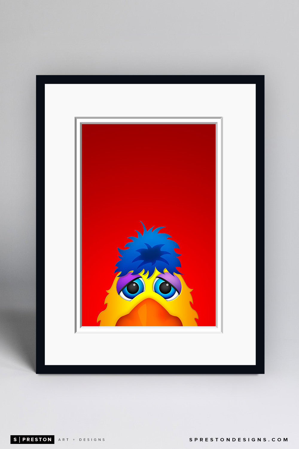 Minimalist San Diego Chicken Art Print - San Diego Padres - S. Preston Art + Designs