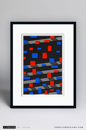 Minimalist Shea Stadium Art Print - New York Mets - S. Preston Art + Designs