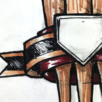 Chase Field - Ink Sketch Collection - Arizona Diamondbacks Limited Edition - Arizona Diamondbacks - S. Preston Art + Designs