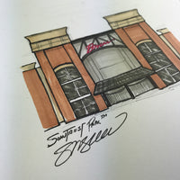 Truist Park Ink Sketch - Atlanta Braves - by S. Preston
