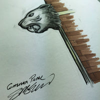 Comerica Park - Ink Sketch Collection - Detroit Tigers Limited Edition - Detroit Tigers - S. Preston Art + Designs