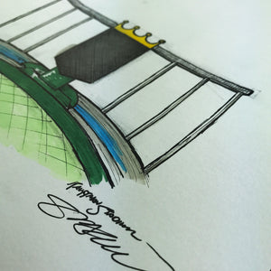 Kauffman Stadium - Ink Sketch Collection - Kansas City Royals Limited Edition - Kansas City Royals - S. Preston Art + Designs