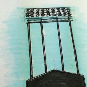 Dodger Stadium - Ink Sketch Collection - Los Angeles Dodgers Limited Edition - Los Angeles Dodgers - S. Preston Art + Designs