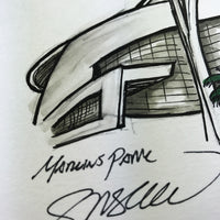 Marlins Park - Ink Sketch Collection - Miami Marlins Limited Edition - Miami Marlins - S. Preston Art + Designs
