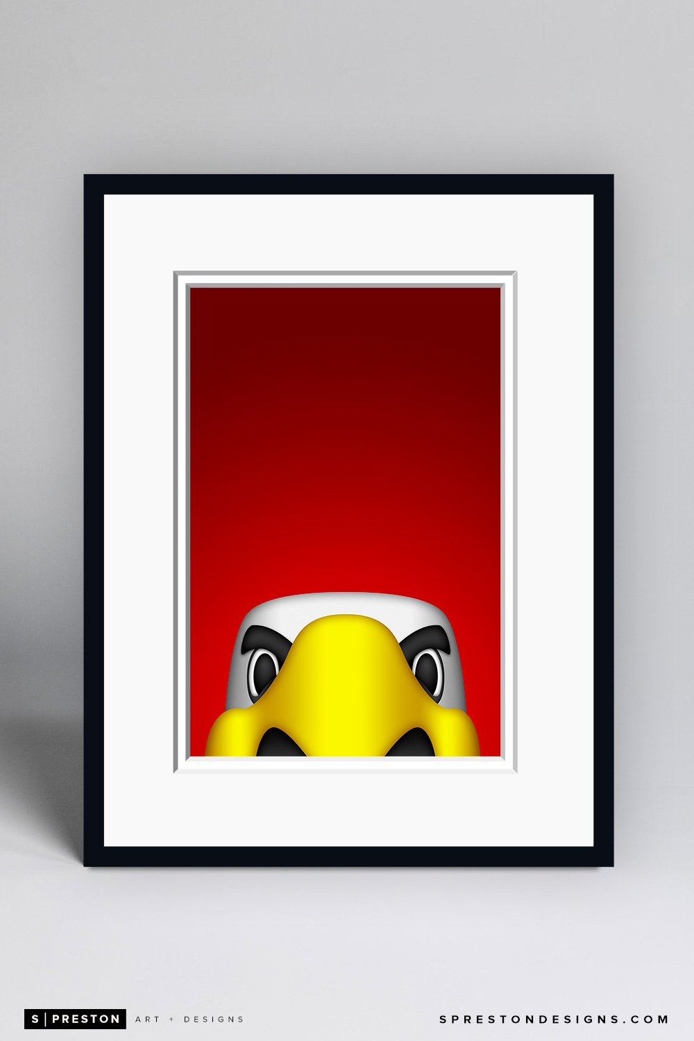 Minimalist Slapshot Art Print- Washington Capitals - S. Preston Art + Designs