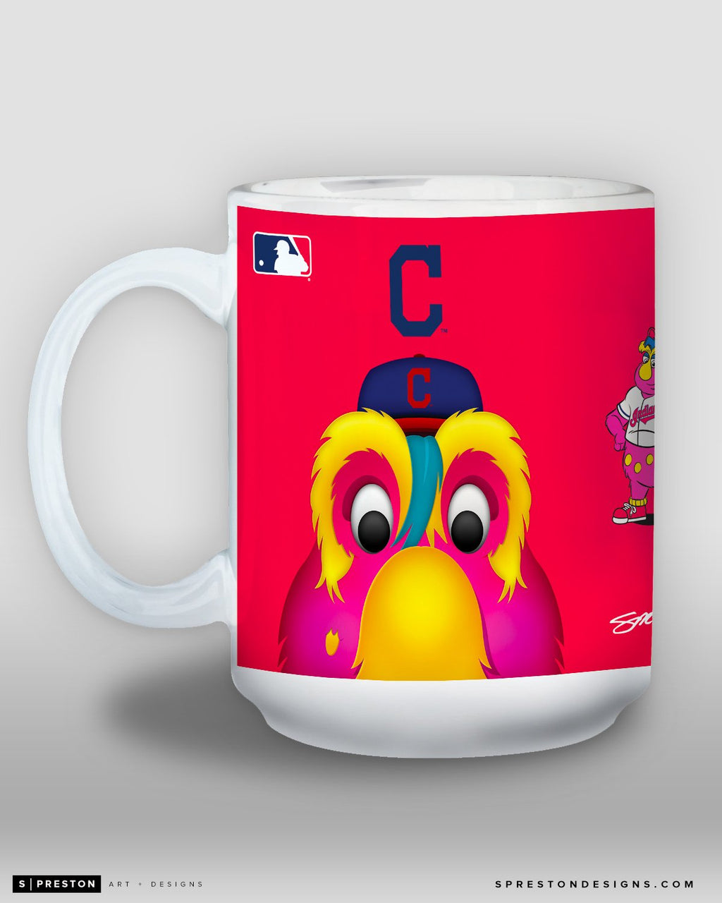 Minimalist Slider Coffee Mug - MLB Licensed - Cleveland Indians Mascot