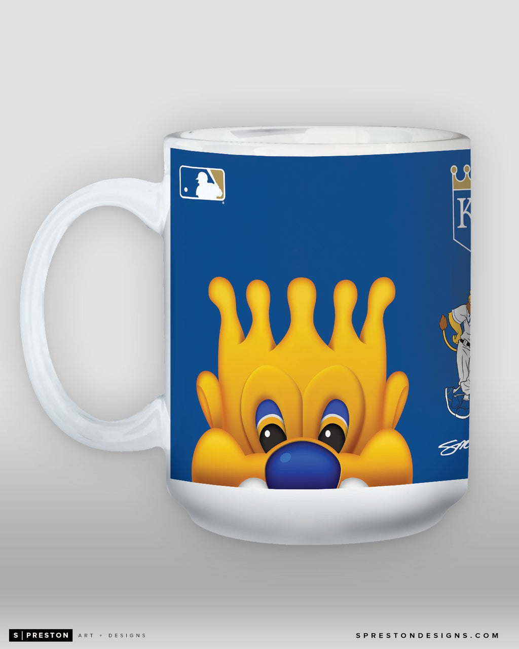 Minimalist Sluggerrr Coffee Mug - MLB Licensed - Kansas City Royals Mascot