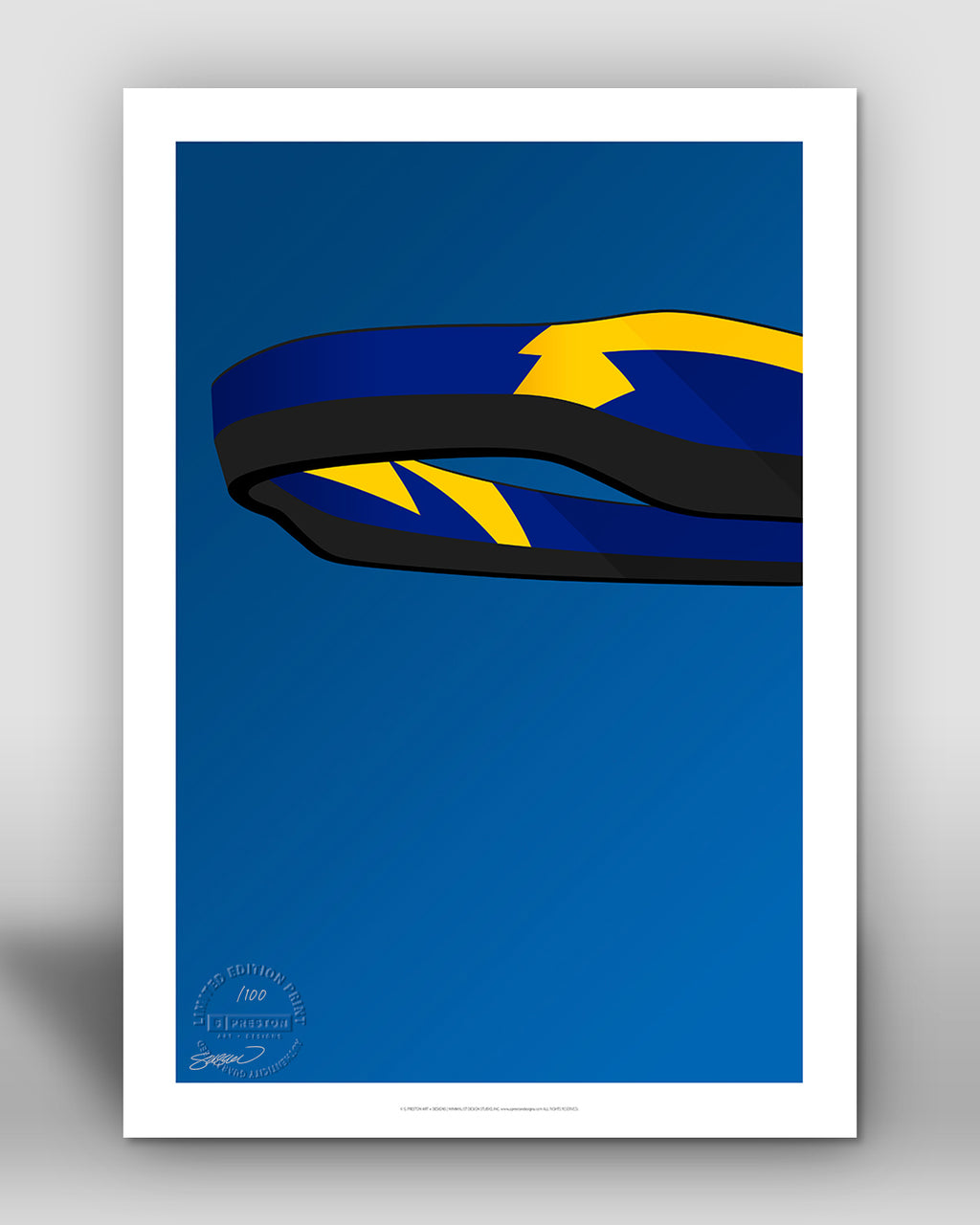 Minimalist SoFi Stadium - Los Angeles Chargers - S. Preston