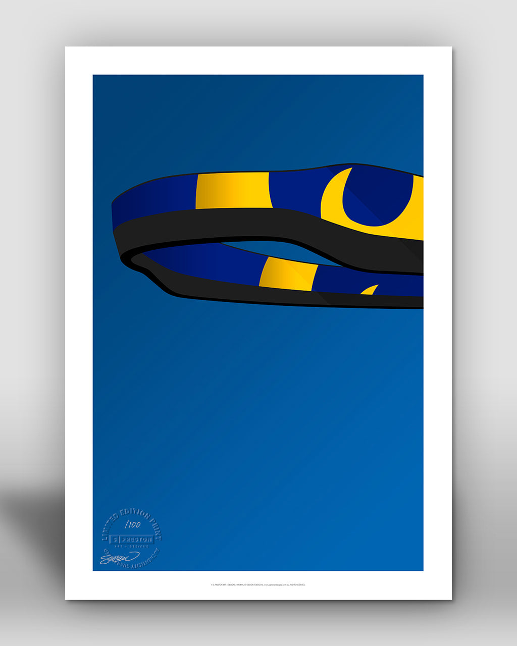 Minimalist SoFi Stadium - Los Angeles Rams - S. Preston