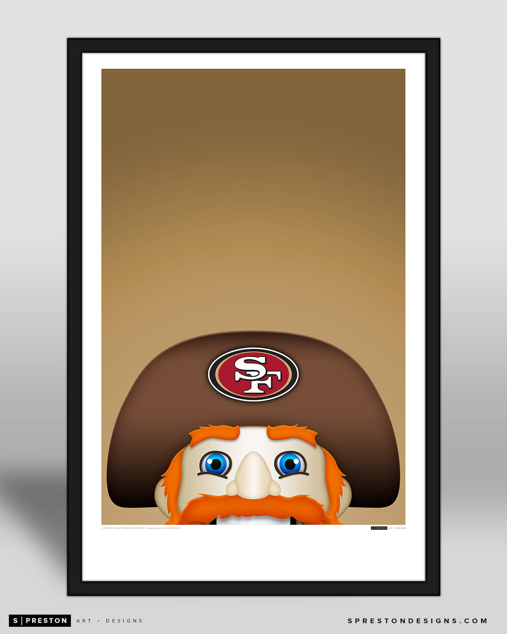Minimalist Sourdough Sam Art Poster San Francisco 49ers Mascot - S. Preston