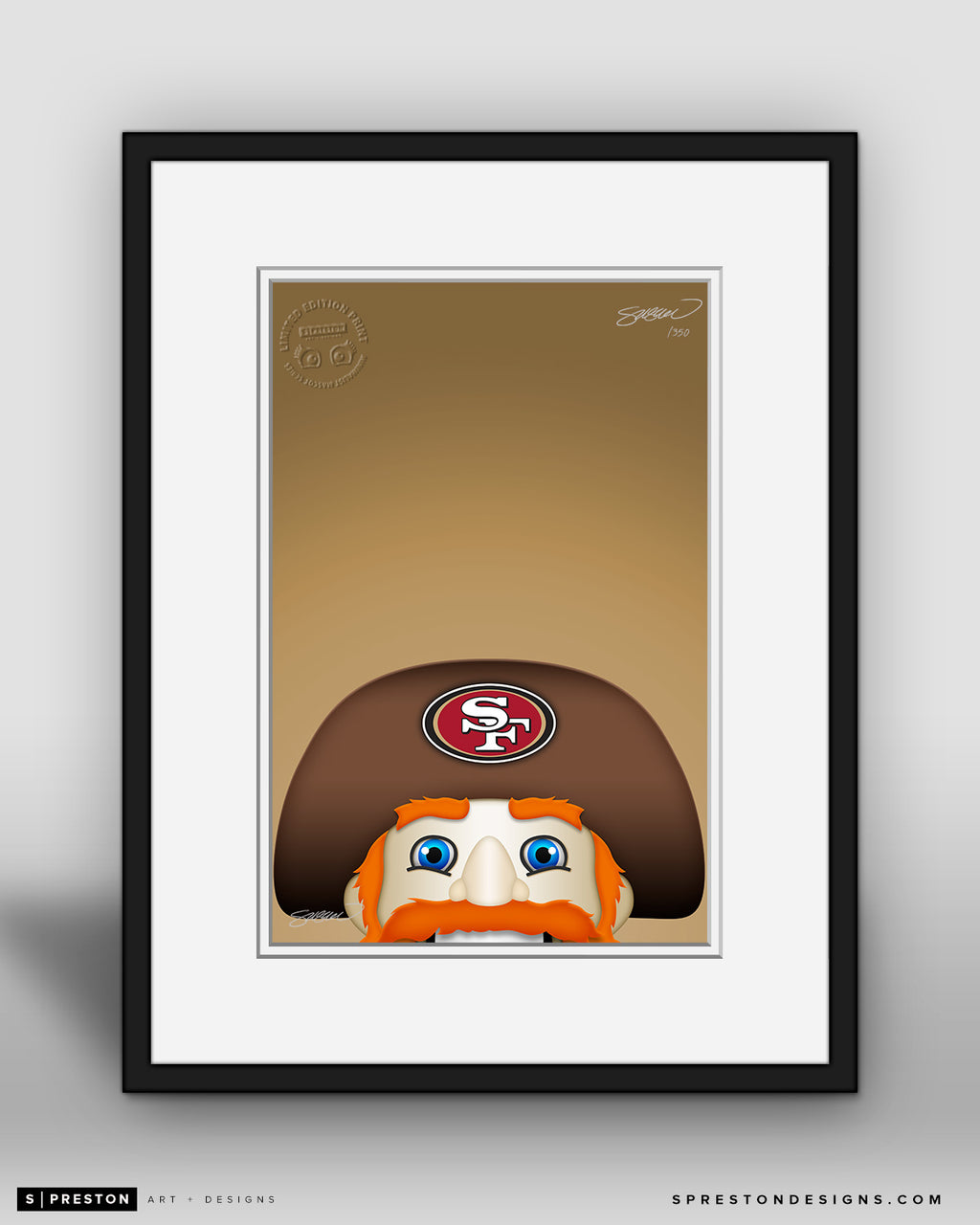 Minimalist Sourdough Sam San Francisco Giants Mascot - S. Preston