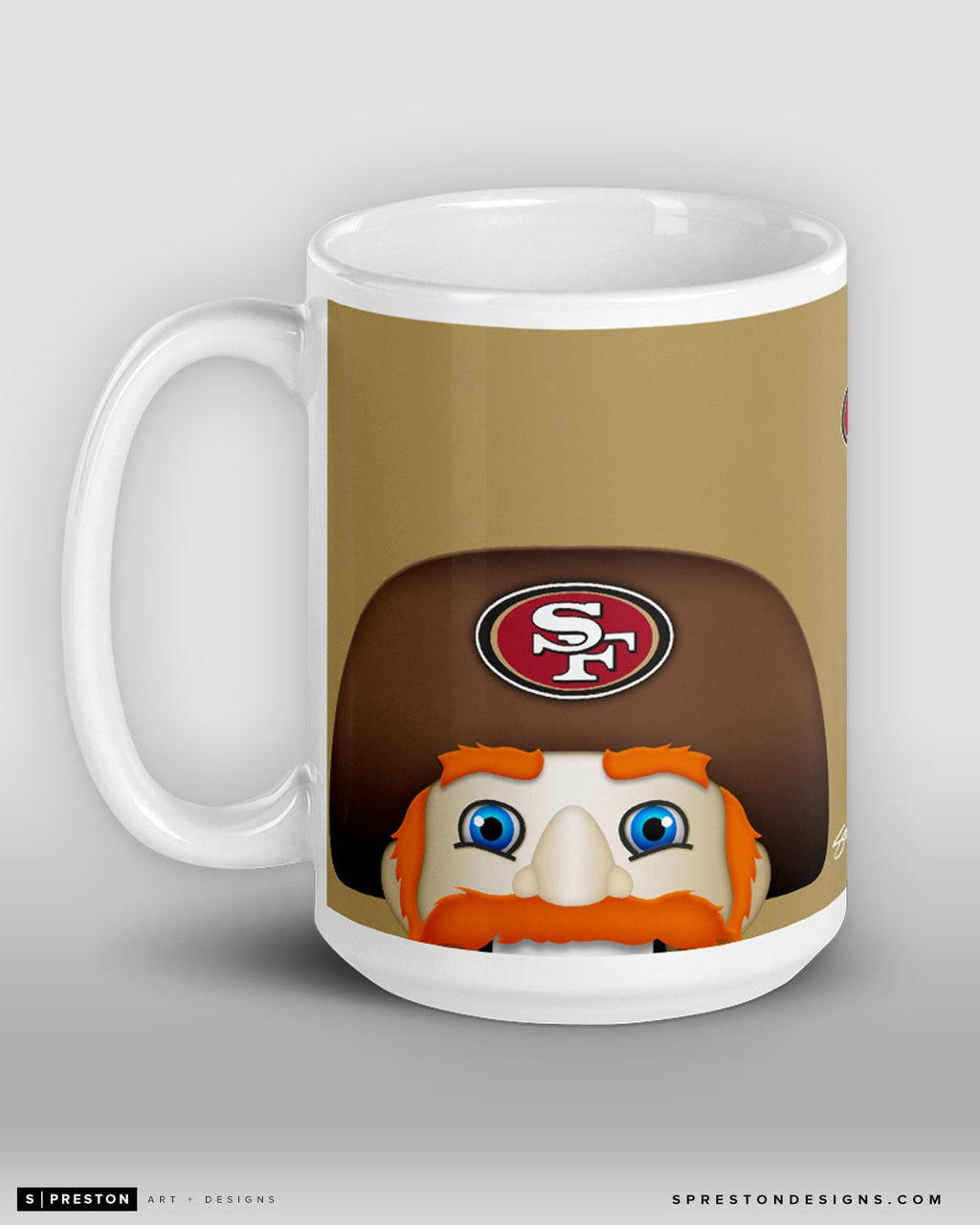 Minimalist Sourdough Sam Coffee Mug San Francisco 49ers Mascot - S. Preston