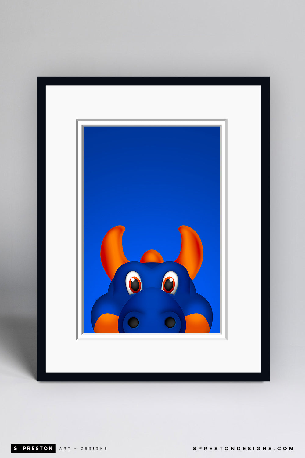 Minimalist Sparky The Dragon - New York Islanders - S. Preston