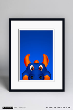 Sparky The Dragon Art Print - New York Islanders Mascot - S. Preston Art + Designs
