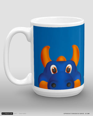 Minimalist Sparky the Dragon Coffee Mug - NHL Licensed - New York Islanders Mascot