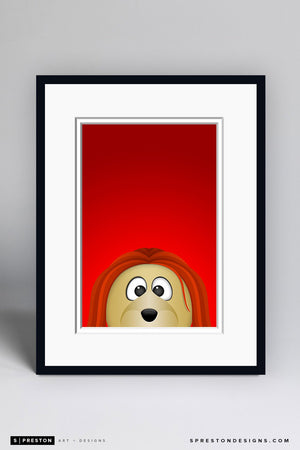 Minimalist Spartacat Art Print - Ottawa Senators - S. Preston Art + Designs