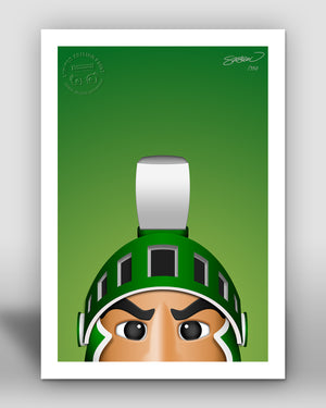 Minimalist Sparty - Michigan State Spartans
