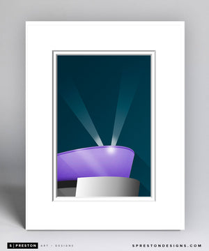 Minimalist Staples Center Matted Art Poster - CLEARANCE