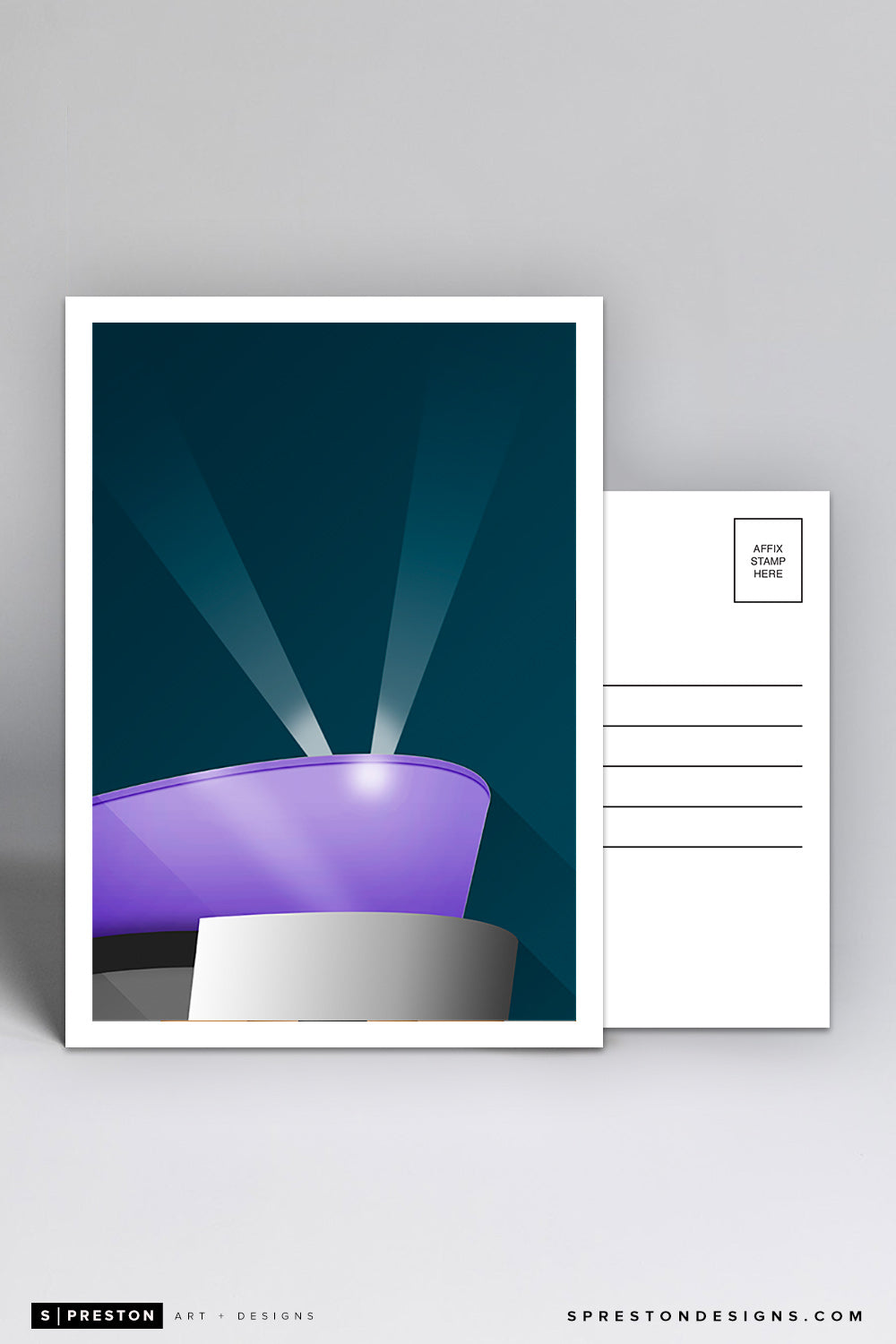Minimalist STAPLES Center Postcard