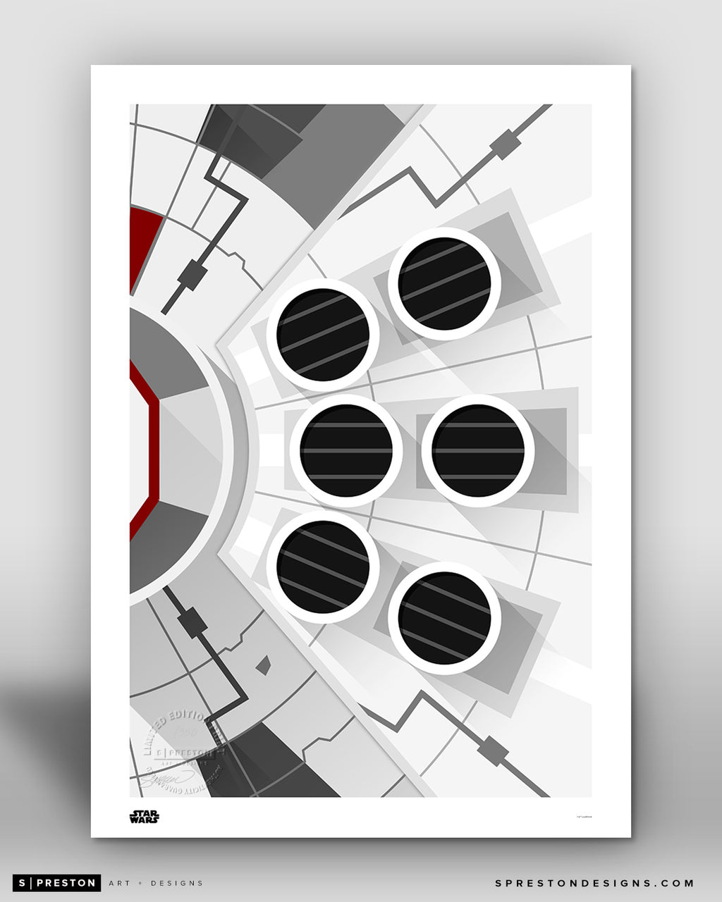 Minimalist Millennium Falcon - Star Wars - S. Preston