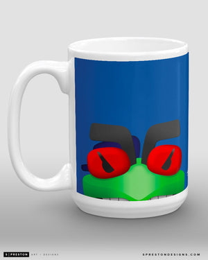 Minimalist Stinger Coffee Mug - NHL Licensed - Columbus Blue Jackets Mascot